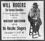 1925 - Will Rogers Visits Winthrop