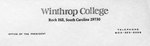 1974 - Winthrop's Official Name Changed to Winthrop College by Winthrop University