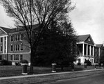 View of Phelps Hall from Oakland Ave, 1956