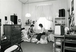 Students in Phelps Hall Dorm Room, 1982