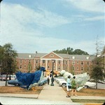Come See Me Decorations Outside of Phelps Hall, late 1960s