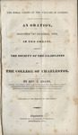 The moral causes of the welfare of nations: an oration, delivered 1st November, 1834, in the chapel, before the Society of Graduates of the College...