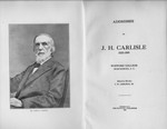 Addresses of J.H. Carlisle