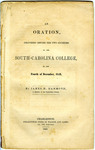 An Oration, Delivered Before the Two Societies of the South Carolina College