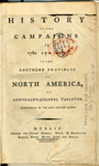 A History of the Campaigns of 1780 and 1781