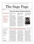 The Sage Page Spring 2010 by Winthrop University Honors Association