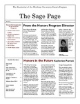 The Sage Page Fall 2010 by Winthrop University Honors Association