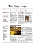 The Sage Page Fall 2011 by Winthrop University Honors Association