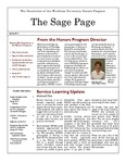 The Sage Page Spring 2012 by Winthrop University Honors Association