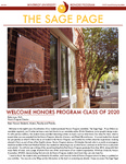 The Sage Page Fall 2016 by Winthrop University Honors Association