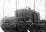 Tillman Hall (Science Building) under construction in 1912 by Winthrop University