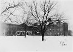 Tillman Hall (Science Building) in the snow ca. 1947 by Winthrop University