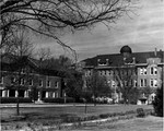 Tillman Hall (Science Building) and Bancroft Hall, April 1948 by Winthrop University