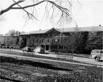 Bancroft Hall with Margaret Nance on the left ca. 1948 by Winthrop University