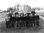 W.T.S. Football Team with Winthrop Training School in Background 1923