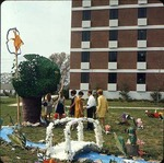 Come See Me Decorations Outside of Kate V. Wofford Hall, late 1960s by Winthrop University